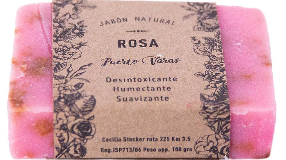 Jabón Natural Rosa 100 g