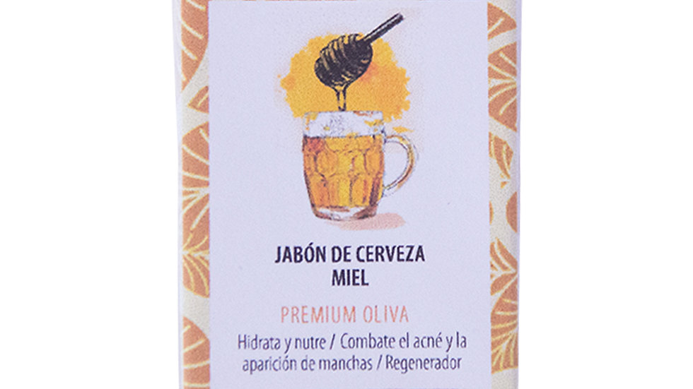 Jabón Natural Premium Cerveza y Miel 100 g