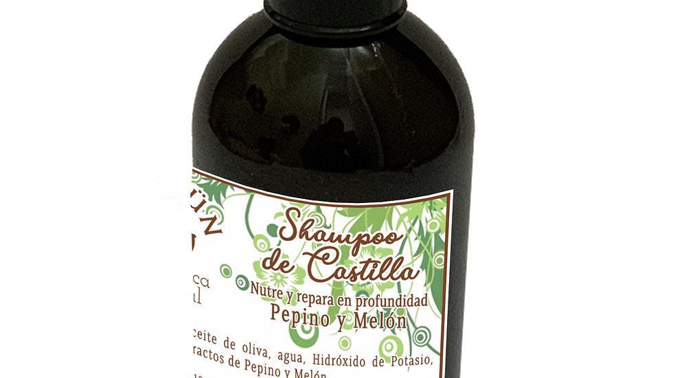 Shampoo Natural de Castilla Pepino y Melón 250 cc