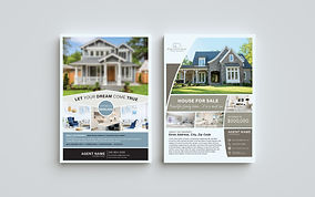 Image of 2 different house flyers