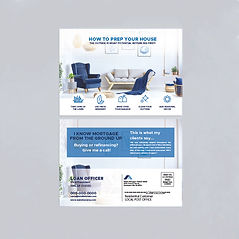 Image of front and back of postcard mailers