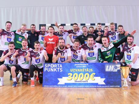 Mūsējie – ''Sporta punkts'' Latvijas kausa izcīņas handbolā uzvarētāji