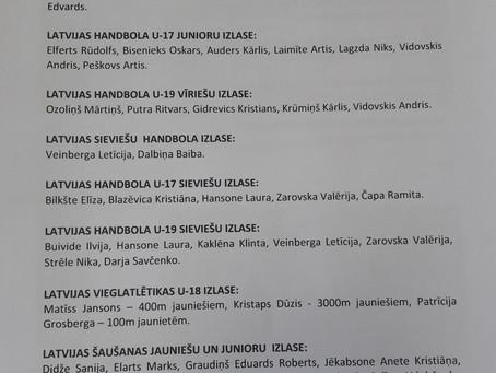 Dobeles Sporta skolas audzēkņi - Latvijas izlašu kandidāti.