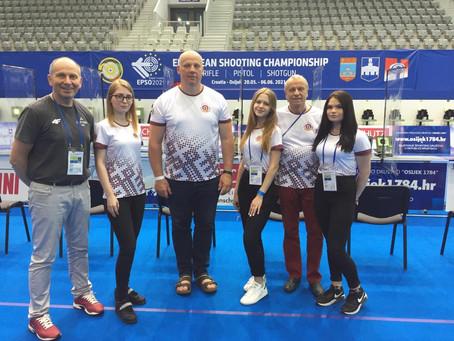 8. vieta Eiropas čempionātā - Latvijas šaušanas izlases juniorēm