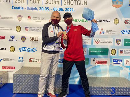 Danielam Vilciņam izcīnīta bronzas medaļa Eiropas Čempionātā šaušanā junioriem!