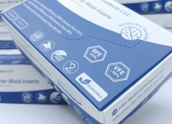 美國製 100% 自然分解口罩濾芯 (適用於 FluStop Mask)