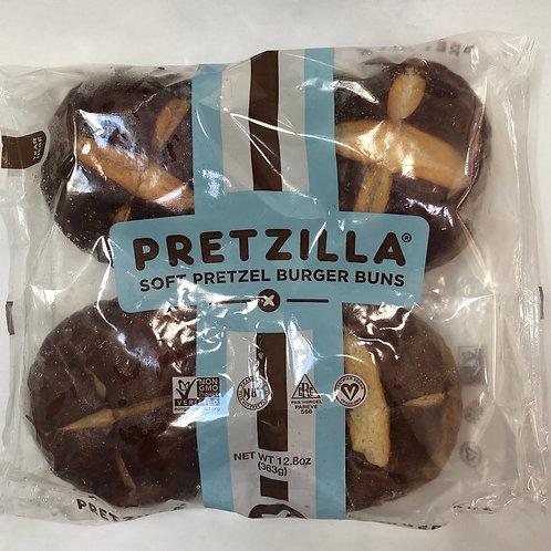 Pretzilla Soft Pretzel Burger Buns 12.8oz