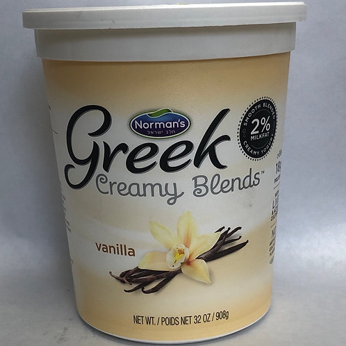 Norman's Greek Creamy Blends Vanilla 32oz