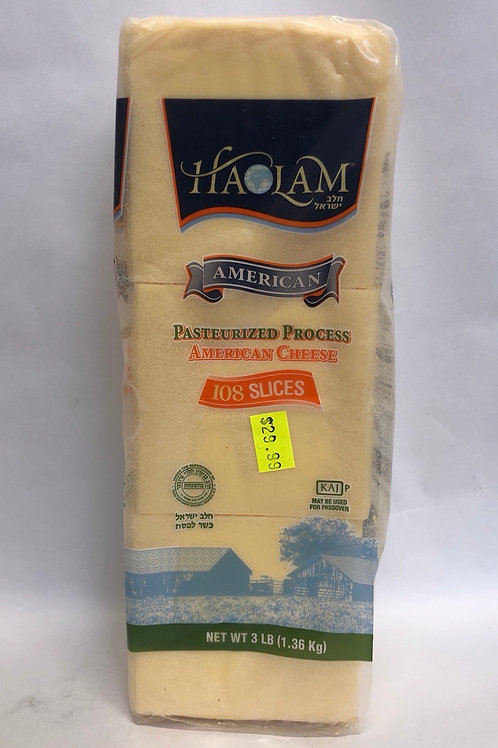 Haolam Pasteurized Process American Cheese -108 Slices- 3LBS
