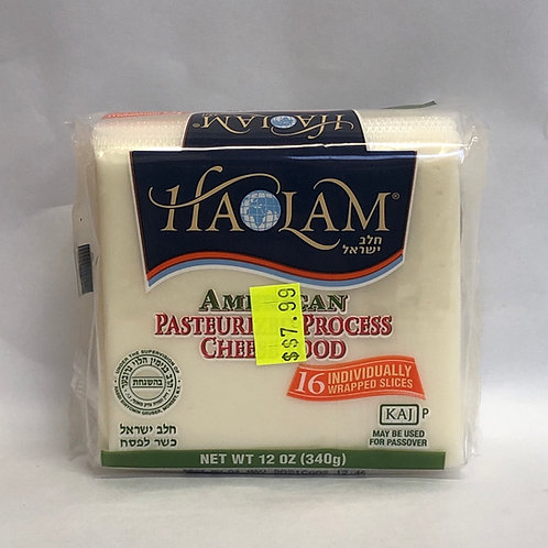 Haolam American Pasteurized Process Cheese -16 Individual Wrapped Slices - 12oz