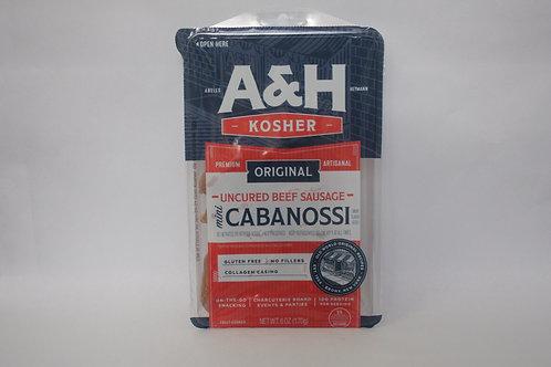 A&H Original Uncured Beef Mini Cabanossi 6oz