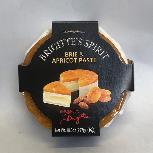 Brigitte's Spirit Brie & Apricot Paste 10.5oz