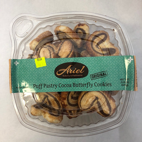 Ariel Puff Pastry Cocoa Butterfly Cookies 21.16oz