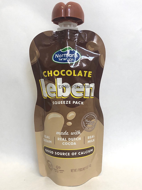Norman's Chocolate Leben Squeeze Pack 5oz