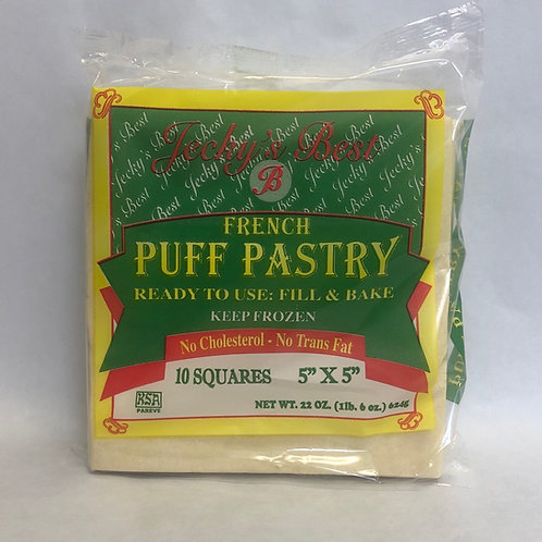"JB French Puff Pastry -10 Squares 5"" x 5""- 22oz"