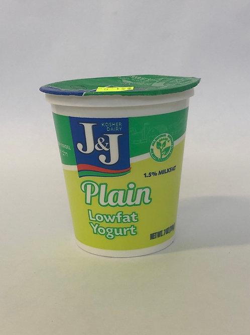 J&J Plain Low-fat Yogurt 7 oz