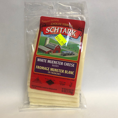 Schtark White Muenster Cheese Slices 6oz