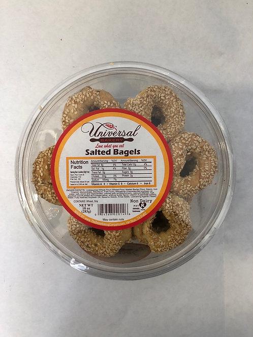 Universal Bakery Salted Sesame Bagels 10oz