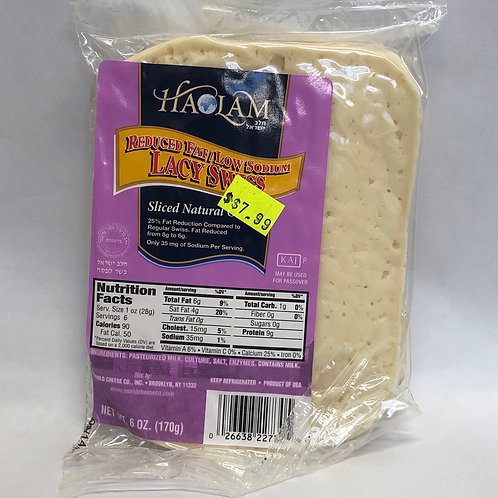 Haolam Reduced Fat/Low Sodium Sliced Lacy Swiss Cheese 6oz