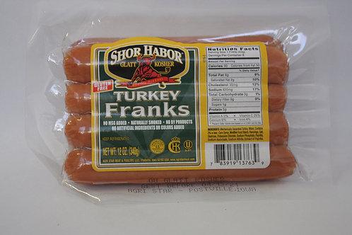 Shor Habor Turkey Franks 12oz