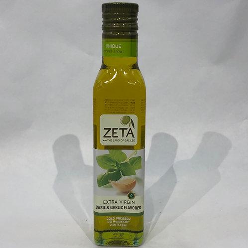 Zeta Extra Virgin Oil Basil & Garlic Flavor 8.5oz