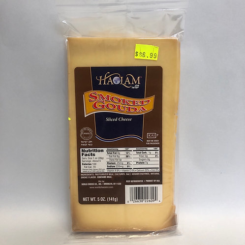 Haolam Smoked Gouda Sliced Cheese 5oz