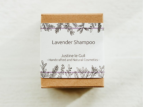 lavender solid shampoo for natural hair and floral scent