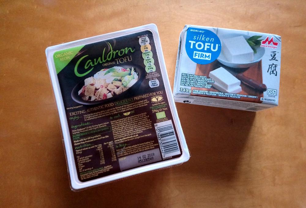 organic vegan silken and firm tofu