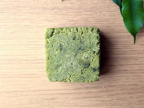 Natural matcha green tea hair care made in Ireland for natural hair