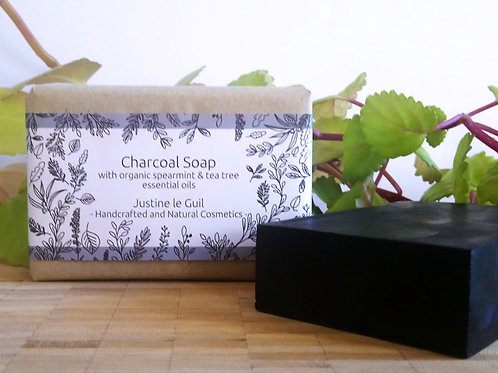 Irish Natural & Handcrafted charcoal soap bar