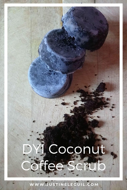 DIY Coconut coffee scrub pinterest
