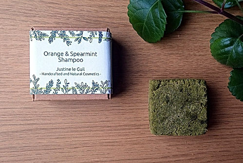 solid orange spearmint shampoo for travel