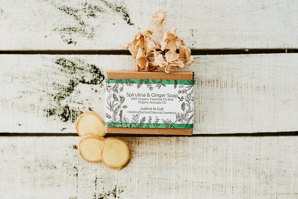 Vegan and Cruelty-free Spirulina & Ginger Soap