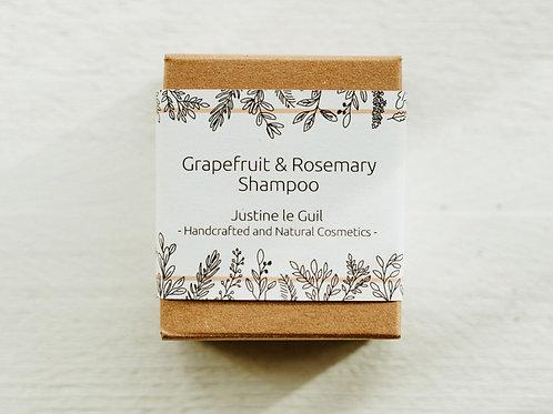 Grapefruit & ROsemary Solid shampoo handmade in Ireland