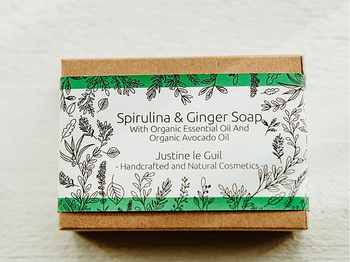 Face Soap Bar with Organic Ginger essential oil