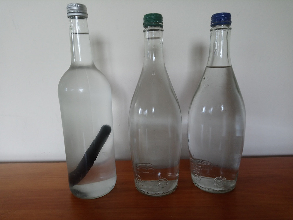 Zero Waste Glass Bottle Charcoal Stick