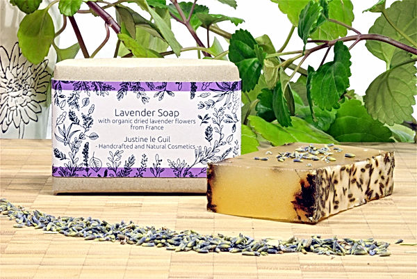 lavender soap with essential oil