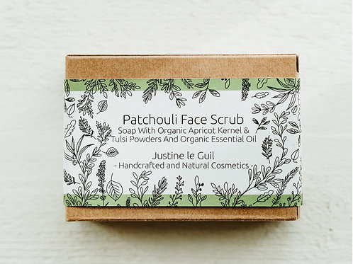 Patchouli Face Scrub Soap bar handcrafted in Ireland