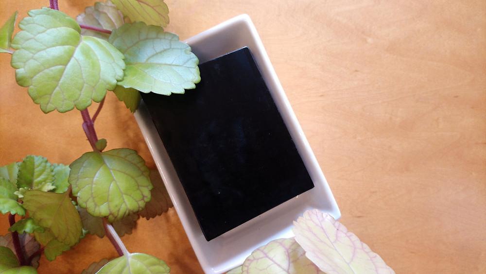 vegan and natural charcoal soap bar