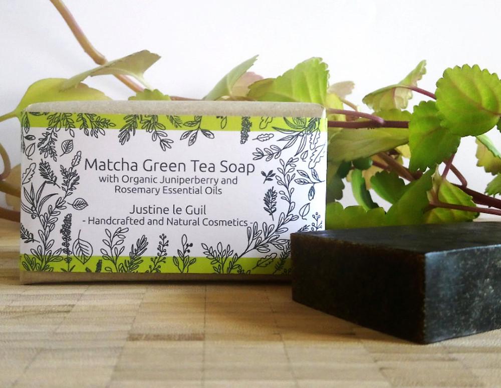 Irish Matcha Green Tea Soap bar, vegan and natural