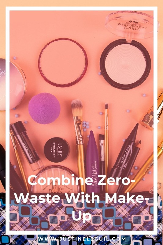 Eco Beauty with brushes and makeup