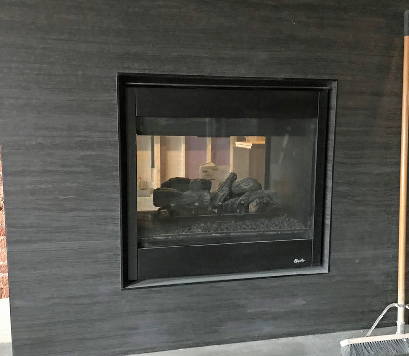 See Through Fireplace
