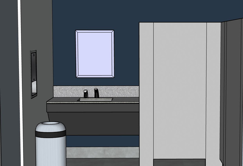 Basement Restroom