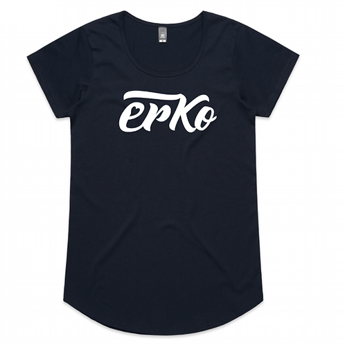 Love Erko women's navy tee