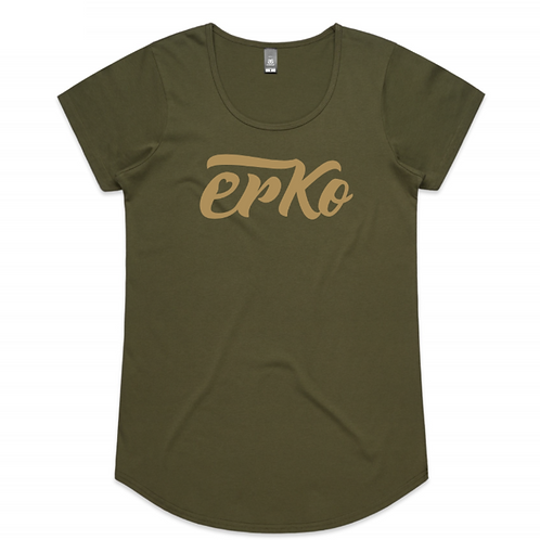 Love Erko women's metallic print tee