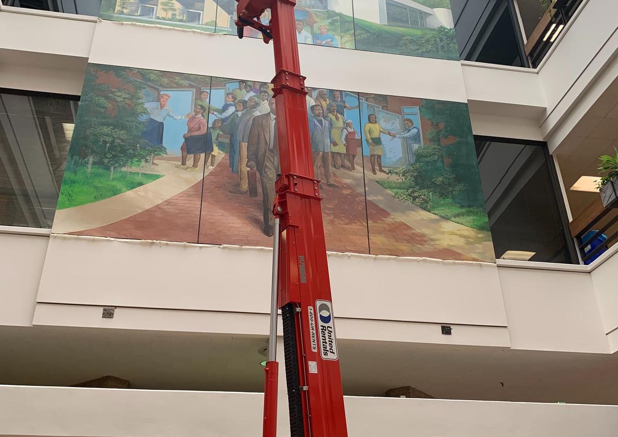 Height of Julian T. White Mural