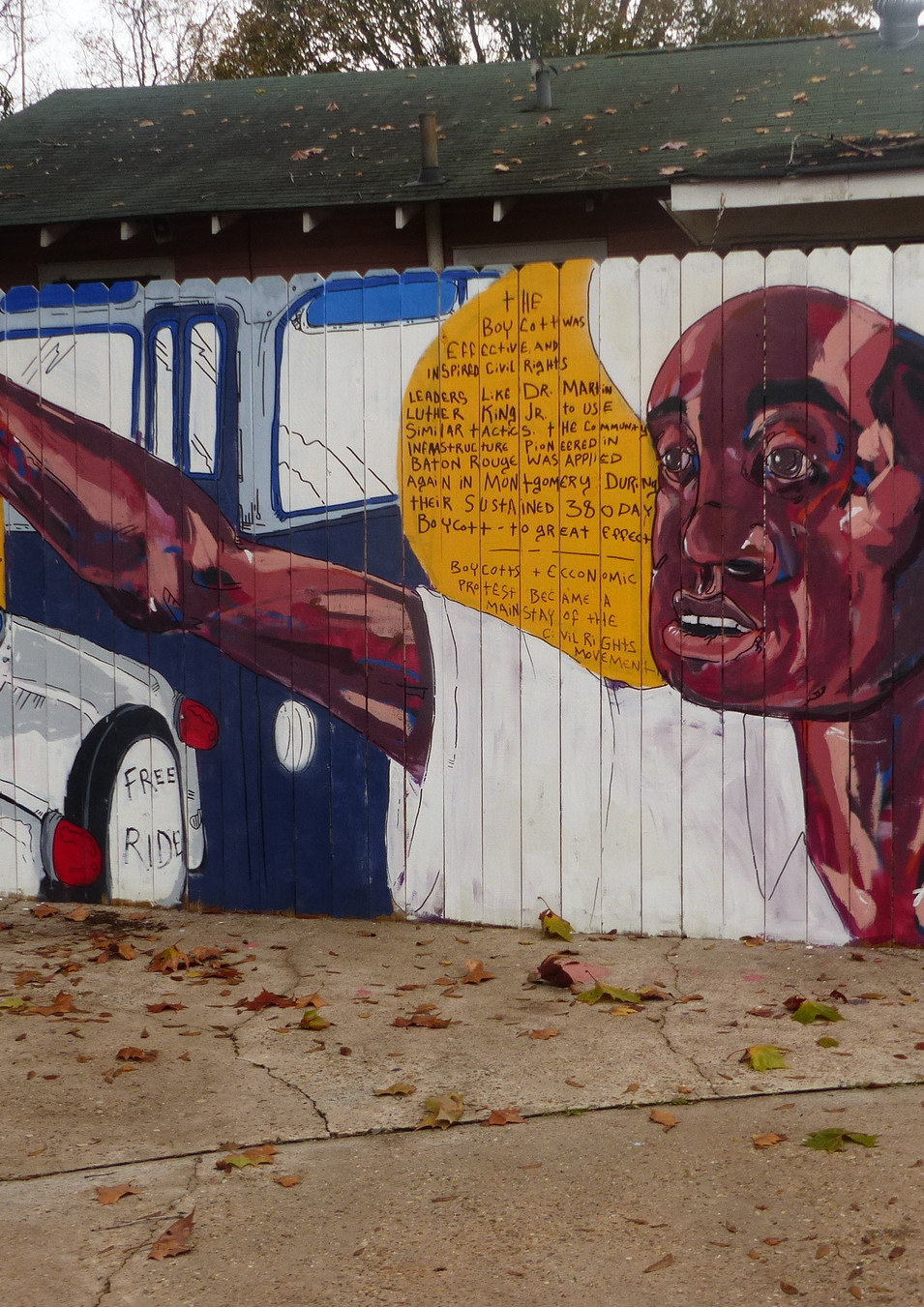 "Wall #48 Baton Rouge ""First Well Done Fuss Over a Fair Bus"""