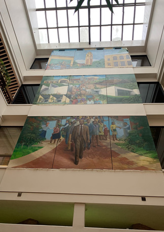 Julian T. White mural