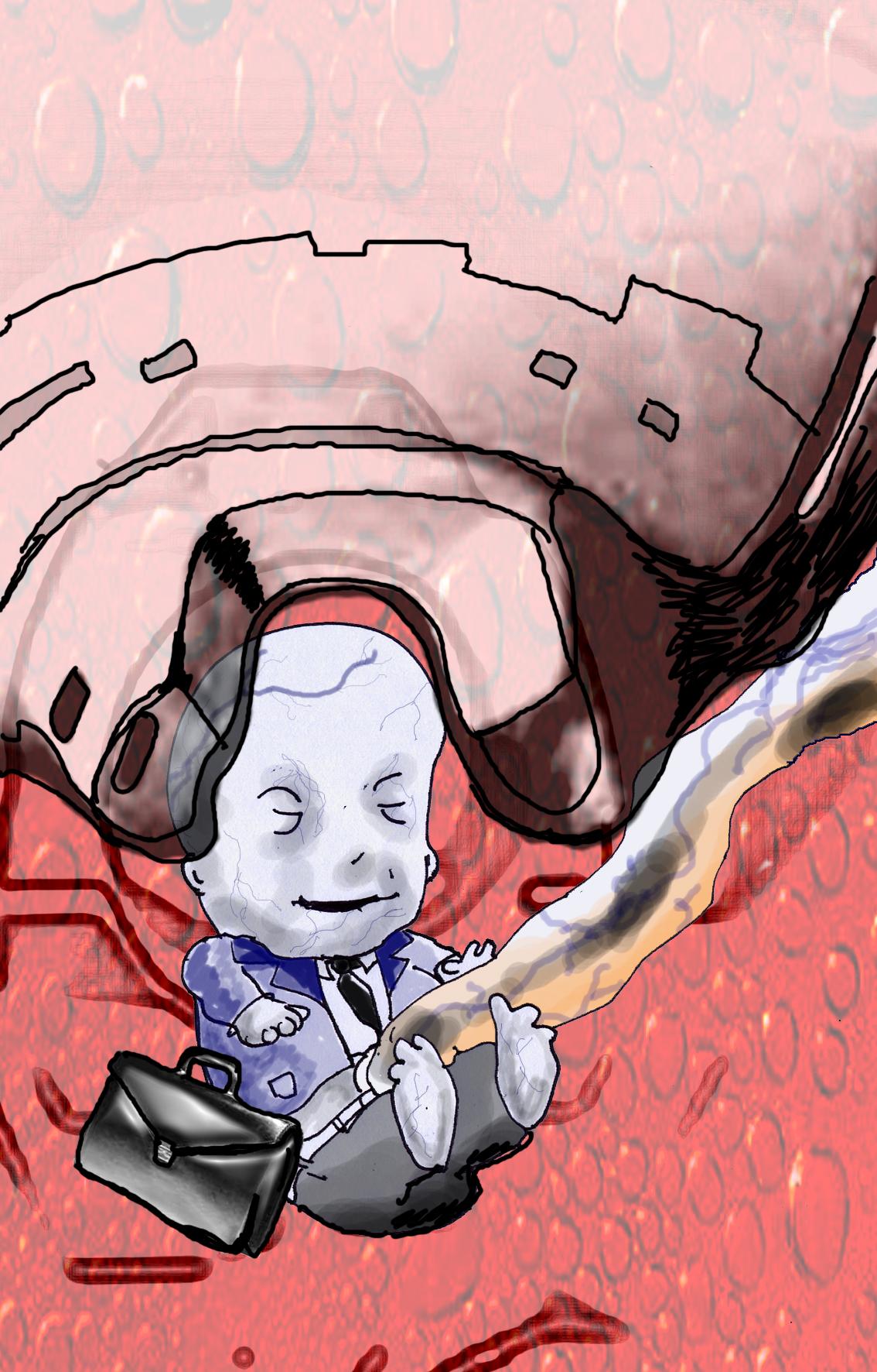 Illustration for a Scifi short story