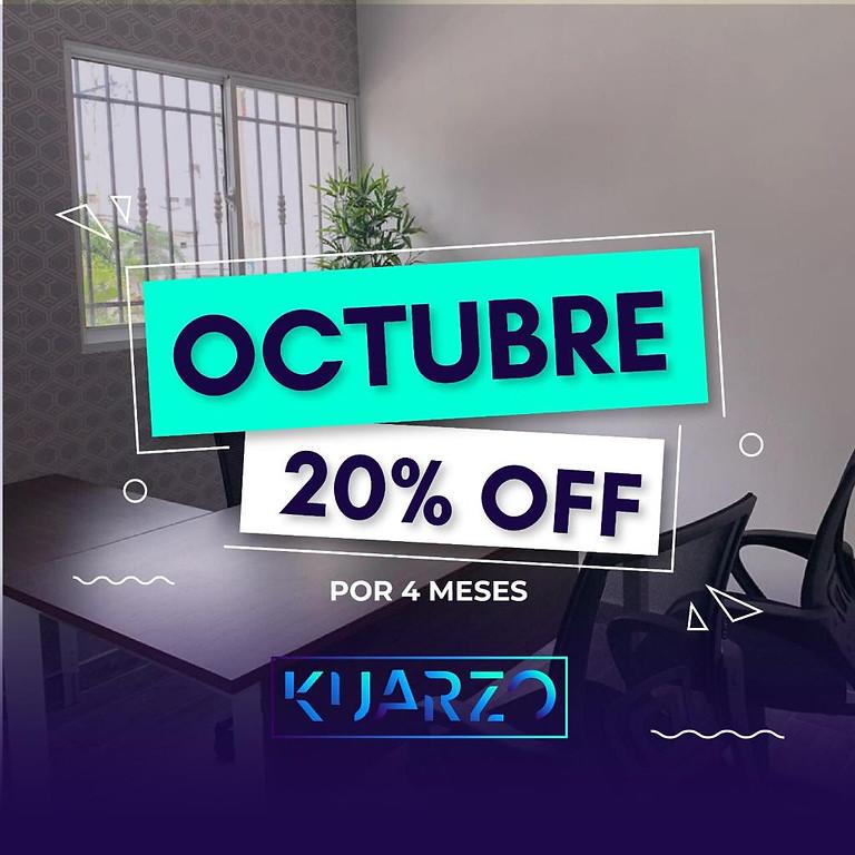 20% OFF EN MEMBRESIAS KUARZO
